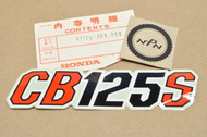 NOS Honda 1979 CB125 S Side Cover Decal Emblem 87128-383-880
