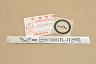 NOS Honda 1982 VF750 S V45 Sabre Left Air Cleaner Side Cover Decal Emblem 87126-MB0-000