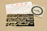 NOS Honda GL1100 GL1200 GL1500 GL500 GL650 VF1000 VF1100 VF700 VF750 VT500 Drive Caution Mark Gold Decal 87560-181-760 ZC