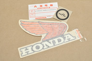 NOS Honda 1984 VF700 F Interceptor Fuel Gas Tank Right Side Emblem Decal 17531-MB2-690 ZA