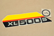 NOS Honda 1979 XL500 S Left Side Cover Emblem Decal 87128-435-670 ZA