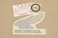 NOS Honda 1983 VT500 C Shadow Fuel Gas Tank Left Side Emblem Decal 87122-MF5-300