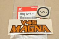 NOS Honda 1982-83 VF750 C V45 Magna Side Cover Emblem Decal 83605-MB1-670