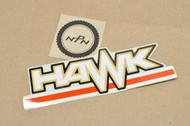 NOS Honda 1978 CB400 T Hawk I Side Cover Emblem Decal 87126-413-000 ZA
