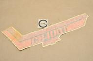 NOS Honda 1981 CB400 T Hawk Left Side Cover Stripe Decal Type 1 87129-413-940 ZA