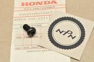 NOS Honda XL100 XL125 XL185 XR185 XR200 Exhaust Heat Shield Mount Set Pan Screw 93500-06010-07