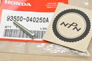 NOS Honda ATC250 ATC70 C70 CB100 CB125 CB400 CB450 CB500 CB550 CB650 CB750 CB900 Pan Screw 93500-04025-0A