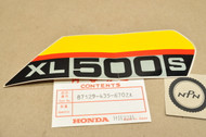 NOS Honda 1979 XL500 S Right Side Cover Emblem Decal 87129-435-670 ZA