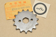 NOS Honda CT70 XL80 XR70 Front Drive Chain Sprocket 15T 23800-098-000