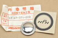 NOS Honda 1977-78 CB750 A 1977-79 GL1000 1981 GL1100 I Gold Wing Handle Bar Grip End Cap 53167-371-000