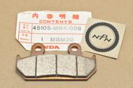 NOS Honda 1987-90 Hurricane CBR600 F Front Brake Caliper Pad 45105-MN4-008