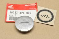 NOS Honda ATC200 ATC250 ATC350 CT110 TRX250 TRX350 XL250 XL500 XR185 XR200 XR250 XR500 Left Crank Case Cover Cap 90087-428-000