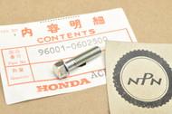NOS Honda ATC250 C70 CB1000 CB450 CR80 CR250 CT70 VF750 VT500 XL350 XR250 XR70 Z50 Flange Bolt 96001-06025-00