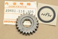 NOS Honda SL70 K0-K1 XL70 K0-1976 Transmission Countershaft Top Gear 23T 23481-118-305