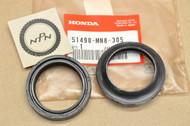 NOS Honda CB400 CB-1 CB750 CBR600 GL1200 NT650 VF750 VF1000 VT1100 Front Fork Dust & Oil Seal Set 51490-MN8-305
