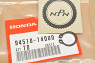 NOS Honda ATC250 CA72 CA77 CB125 CL125 CR250 SL100 TRX250 XL350 XR250 XR600 Circlip 14mm 94510-14000