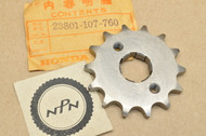 NOS Honda CA95 CB100 CB125 TT CL100 CL90 CT90 S90 SL100 SL90 XL100 Front Drive Chain Sprocket 14T 23801-107-760