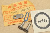 NOS Honda CR125 M MR175 Elsinore XL185 S XR185 Drive Chain Master Link 40531-360-701