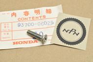 NOS Honda CB1000 CB450 CB500 CB72 CB750 CB77 CB900  CL450 CT125 XL70 XL75 Oval Screw 6 x 25 mm 93700-06025