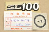 NOS Honda SL100 K1 Side Cover Emblem 87128-110-771