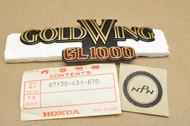 NOS Honda 1978-1979 GL1000 Gold Wing Side Cover Emblem A 87130-431-670
