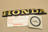 NOS Honda 1978 CM185 T 1980-82 CM200 T Twinstar Fuel Gas Tank Right Side Badge Emblem 87121-419-000