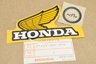 NOS Honda CR125 R CR80 R XL100 XL125 XL175 XL185 XL80 XR100 XR200 XR80 Left Fuel Tank Emblem 87124-391-670