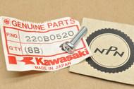 NOS Kawasaki A1 A7 C2 F11 F9 G3 KD80 KDX175 KE250 KH400 KV75 KX250 KZ305 KZ900 MT1 W2 Z1 Screw 220B0520