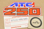 NOS Honda 1986-87 ATC250 SX Side Emblem Decal Sticker 87121-HA6-680