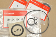 NOS Honda CR125 M FL250 MR175 MT125 MT250 Carburetor Gasket Kit Set 16010-360-305