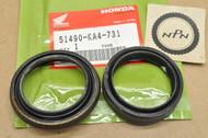 NOS Honda 1983-84 CR250 R 1983 CR480 R 1984 CR500 R 1983-84 XR500 R Front Fork Seal Set 51490-KA4-731