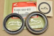 NOS Honda CR125 R CR250 R CR500 R XR600 R Front Fork Seal Set 51490-KA4-831