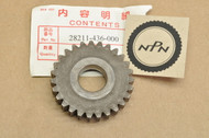 NOS Honda XL100 XL75 XL80 XR100 XR75 XR80 Kick Start Starter Pinion Gear 27T 28211-436-000