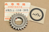 NOS Honda SL70 K0-K1 XL70 K0-1976 Kick Start Starter Pinion Gear 22T 28211-118-305