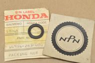 NOS Honda CB350 CB360 CB450 CL175 CL200 CL350 CL360 CL450 MR250 SL350 Petcock Joint Nut Gasket 16956-283-000