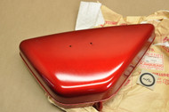 NOS Kawasaki 1969-74 G3 SS G3 TR Oil Tank Right Side Cover Halibut Red 36007-038-2K