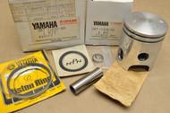 NOS Yamaha GT80 GTMX LB80 MX80 TY80 YZ80 0.25 Oversize Piston, Rings , Pin & Clips Kit 367-11630-60