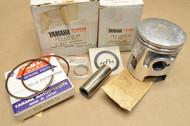 NOS Yamaha 1980 YT125 0.25 Oversize Piston, Rings , Pin & Clips Kit 3X3-11630-10