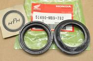 NOS Honda CB1000 CB1100 CB900 CBX GL1100 VF700 VF750 VT700 VT750 XL600 Front Fork Seal Set 51490-MB9-782