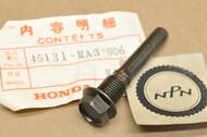 NOS Honda CB450 CB750 CB900 CBX CX650 GL1100 GL1200 GL650 VF1100 VF750 VT750 XL600 Pin Bolt 45131-MA3-006