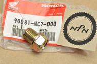 NOS Honda CBR1000 CX500 GL1500 PC800 VT500 VT700 VT750 VT1100 Oil Drain Plug 90081-MC7-000