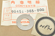 NOS Honda ATC185 ATC200 CB125 CM185 CT125 NX125 TL125 TLR200 TRX200 XL100 XL125 Washer 90451-365-000