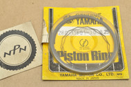 NOS Yamaha 1972 DS7 0.25 Oversize Piston Ring Set for 1 Piston = 4 Rings 280-11601-10