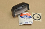 NOS Yamaha 1976-77 XS360 XS500 Tail Light License Plate Lamp Lens Cover 1A8-84743-60