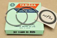NOS Yamaha 1975-76 RD125 0.25 Oversize Piston Ring for 1 Piston = 2 Rings 307-11601-11