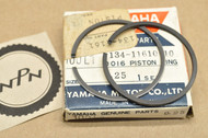 NOS Yamaha 1966-67 YL1 0.25 Oversize Piston Ring Set for 1 Piston = 2 Rings 134-11610-10