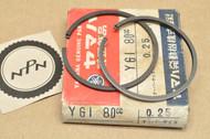 NOS Yamaha YG1 0.25 Oversize Piston Ring Set for 1 Piston = 2 Rings 122-11610-10