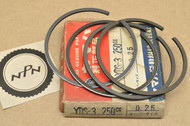 NOS Yamaha 1965-66 YDS3 0.25 Oversize Piston Ring Set for 2 Pistons = 4 Rings 156-11601-10