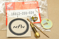 NOS Honda 1977-84 FL250 Odyssey K0-1976 MT250 Elsinore Carburetor Needle Jet Set 16012-358-034
