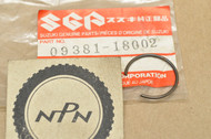 NOS Suzuki GN250 GS1100 GS750 GT750 RM250 RM500 RMX250 SP250 T500 TS250 Piston Pin Circlip 09381-18002